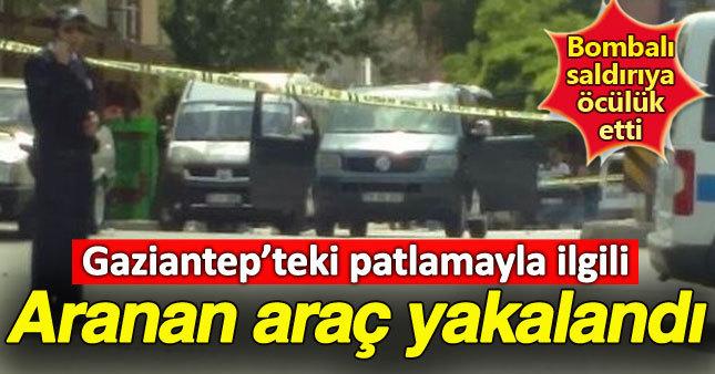 Gaziantep saldırısında aranan araç bulundu