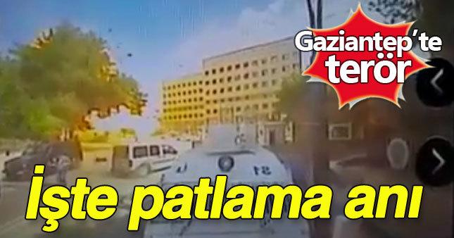 Gaziantep'te bombalı saldırı görüntüleri