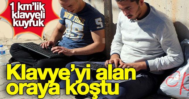 Gaziantep'te klavye kuyruğu