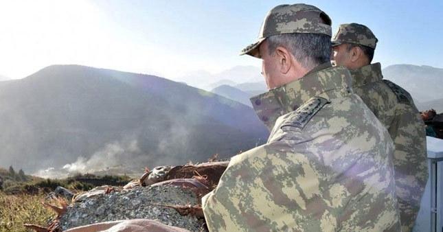 Gnkur. Başkanı Hulusi Akar Suriye sınırında