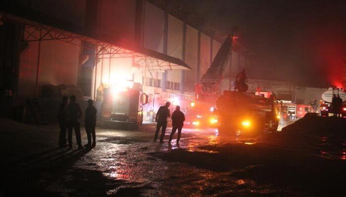 Giresun'da fındık fabrikasında yangın