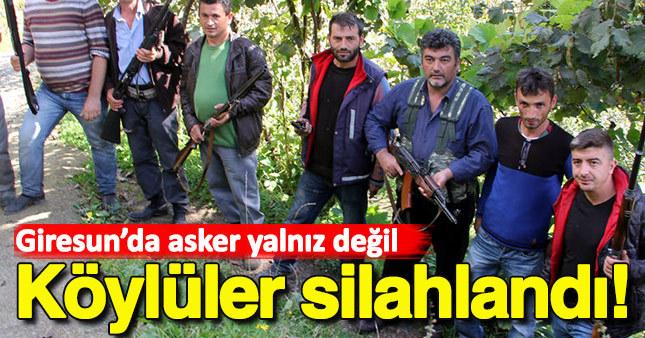 Giresun'da köylüler silahlandı