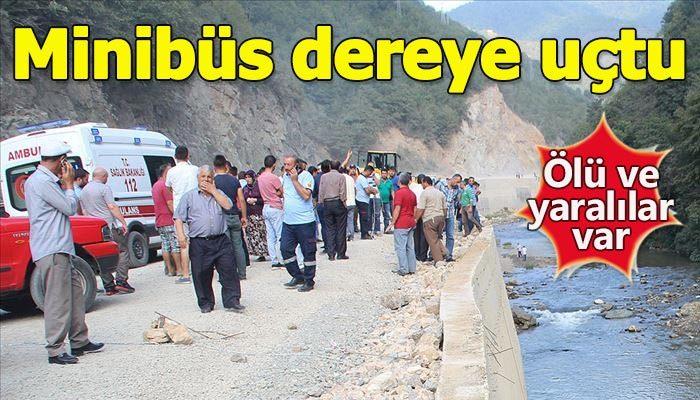 Giresun'da yolcu minibüsü dereye uçtu: 5 ölü, 6 yaralı