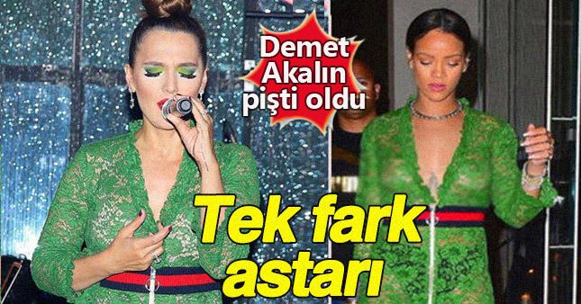 Güzel popçu Akalın, Rihanna ile pişti oldu!
