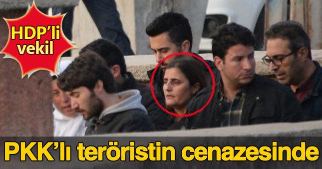 HDP'li Dirayet Taşdemir terörist cenazesine katıldı