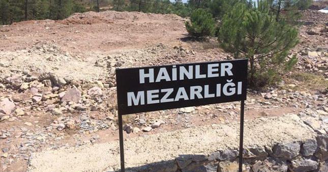 Hainler Mezarlığı tabelası kaldırıldı