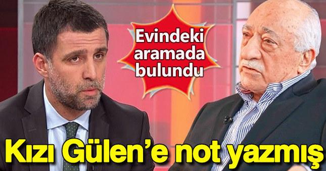 Hakan Şükür'ün kızından Fethullah Gülen'e not