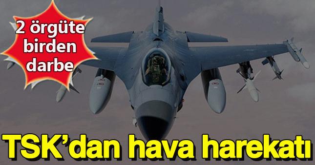 """Hakkari'de """"PKK"""", Suriye'de """"IŞİD"""" bombalandı"""