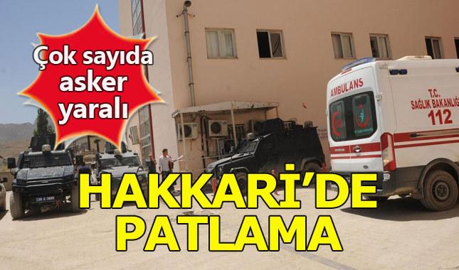 Hakkari'nin Yüksekova ilçesinde patlama: 17 asker yaralı