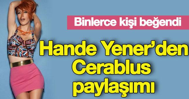 Hande Yener'den operasyona destek
