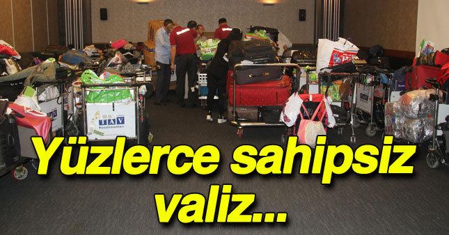 Havalimanında yüzlerce valiz sahipsiz kaldı