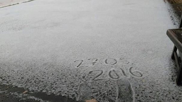 Haziran'a girerken Bursa'ya kar yağdı