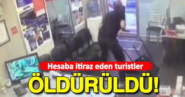 Hesaba itiraz eden turistlere saldırı: 1 ölü