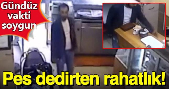 Hırsızın rahatlığı kameralara saniye saniye yansıdı