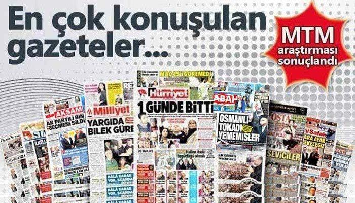 Hürriyet gazetesi en tepede