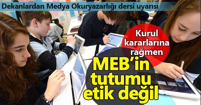 İLDEK: MEB'in medya okuryazarlığı dersi ile ilgili tutumu etik değil