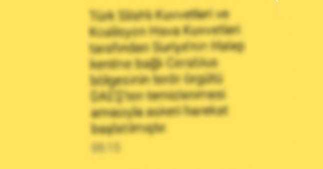 Türkiye kritik gelişmeyi bu SMS'le öğrendi