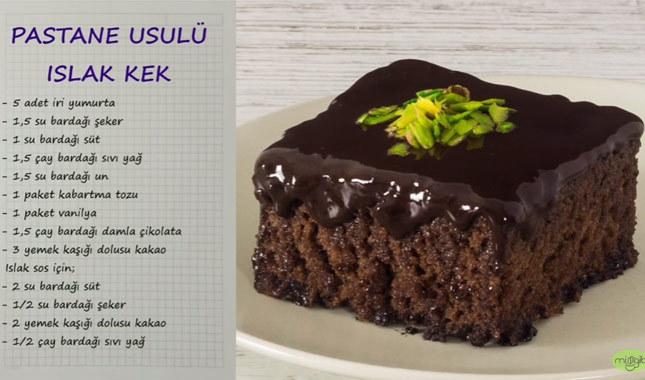 Islak Kek Nasıl Yapılır Videosu