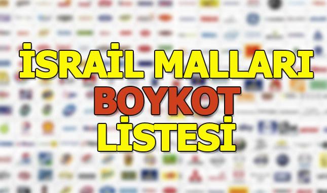 İsrail malları boykot listesi 2018 (Yerli malı ürünler listesi)