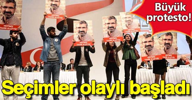 İstanbul Barosu seçimlerinde Tahir Elçi protestosu