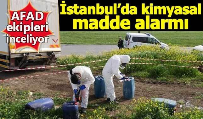 İstanbul Büyükçekmece'de kimyasal madde alarmı!