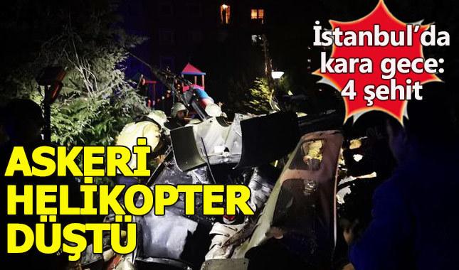 İstanbul Çekmeköy'de askeri helikopter düştü - Son dakika haberler