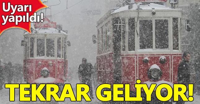 İstanbul için kar uyarısı geldi!