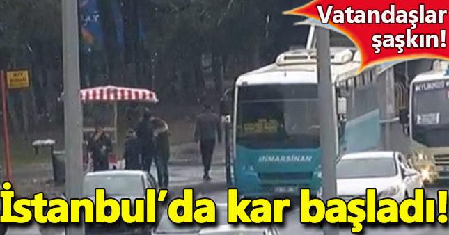 İstanbul'da kar başladı - İstanbul son dakika haberleri