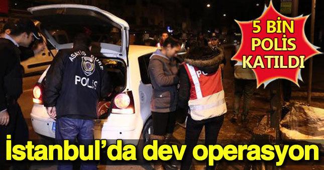 İstanbul'da karada ve denizde büyük huzur operasyonu