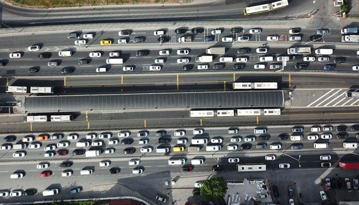 İstanbul'da son 2 ayın en yoğun trafiği oluştu