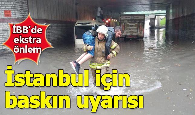İstanbul'da su baskını tehlikesi