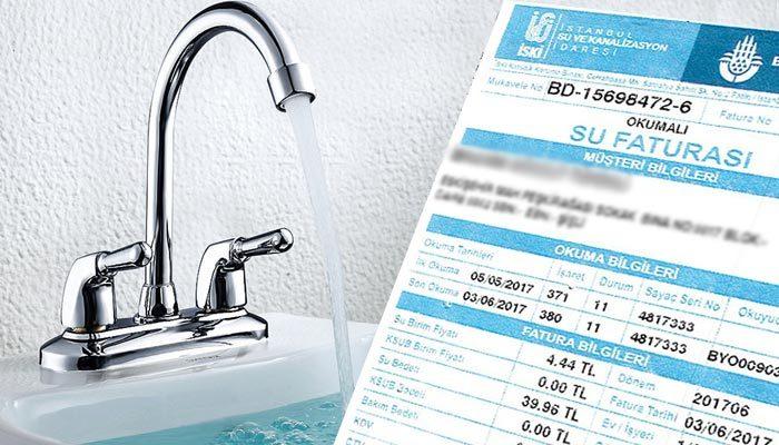 İstanbul'da su ücretlerine zam geliyor