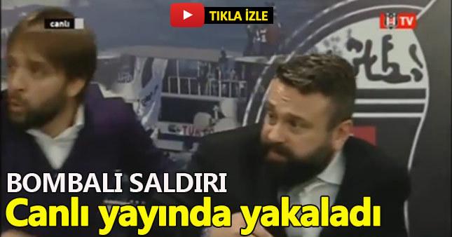 İstanbul'daki patlama anı BJK TV'ye böyle yansıdı