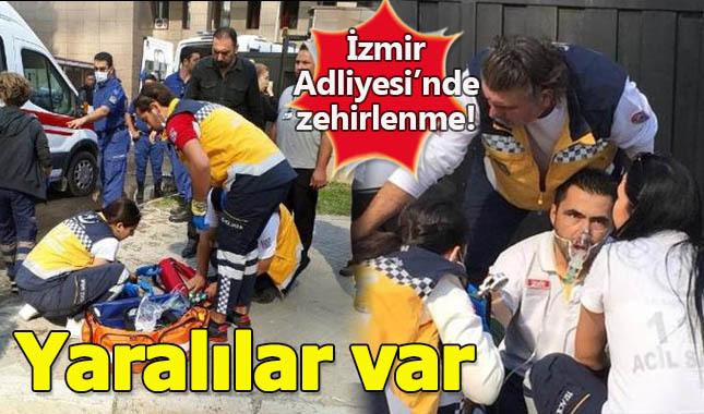 İzmir Adliyesi'nde zehirlenme! Çok sayıda kişi...