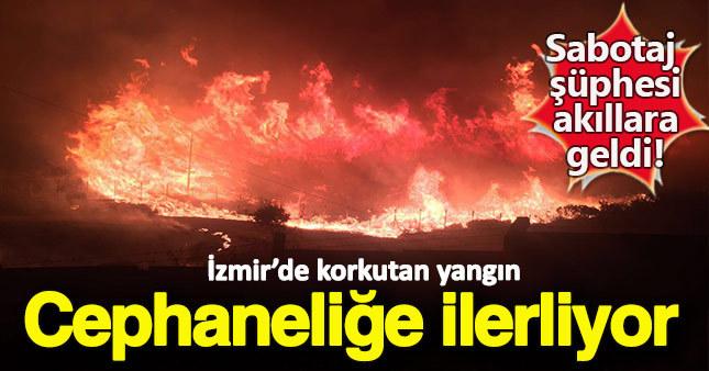 İzmir Buca'da korkutan yangın