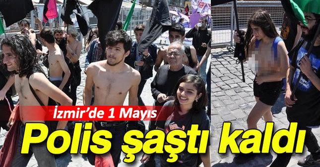 İzmir'de ilginç 1 Mayıs protestosu
