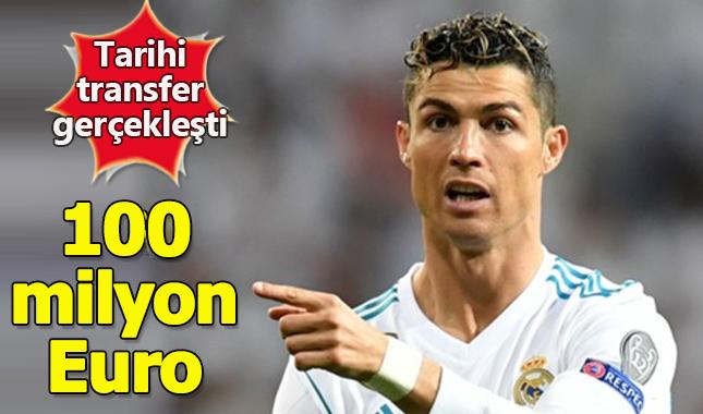 Juventus 100 milyon euro karşılığında Cristiano Ronaldo'yu transfer etti