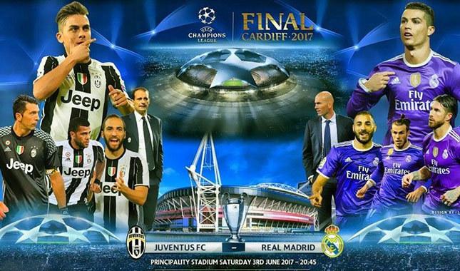 Juventus-Real Madrid şampiyonlar ligi finali canlı yayın maç linki TRT 1
