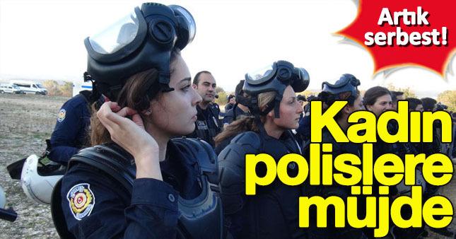 Kadın polislerde de başörtüsü serbest