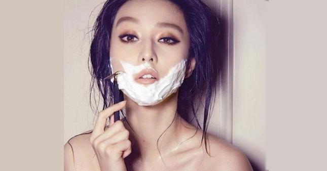 Kadınlarda yeni moda sakal tıraşı