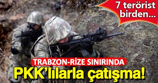 Karadeniz'de PKK'lı teröristlerle çatışma çıktı