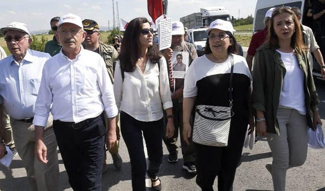 Kılıçdaroğlu Adalet Yürüyüşü'nün 4. gününü bitirdi