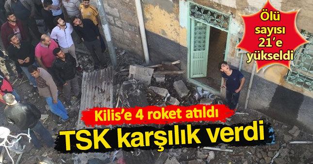 Kilis'e roket atıldı: Ölü ve yaralılar var