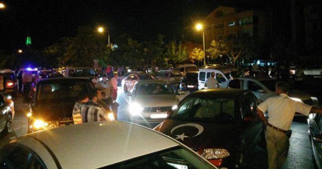 Konya'da elektrik kesildi, halk sokaklara döküldü