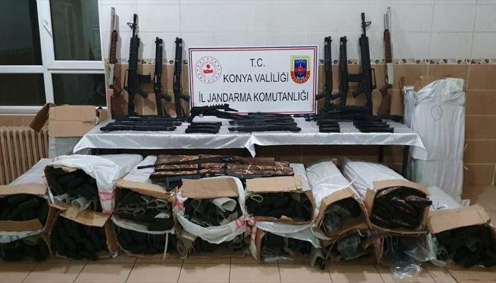 Konya'da kaçak av tüfeği operasyonu