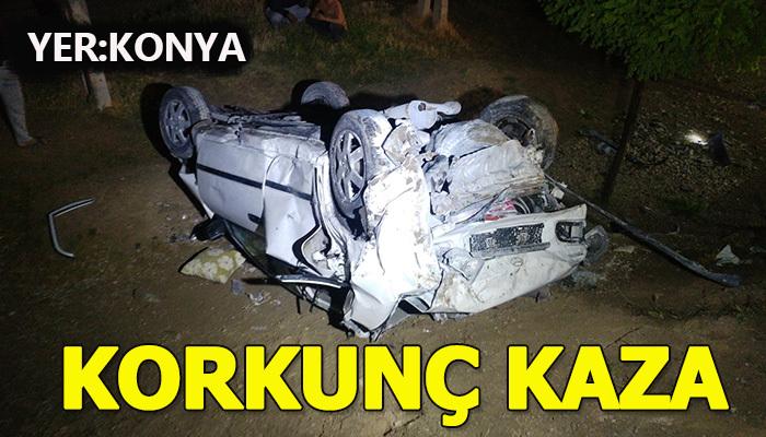 Konya'da korkunç trafik kazası