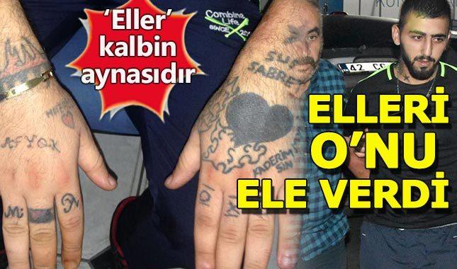 Konya'daki suç makinesini dövmeleri yakalattı