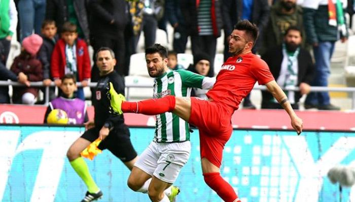 Konyaspor ve Gaziantep berabere kaldı
