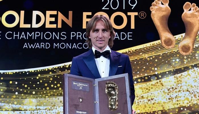 Luka Modric 'Altın Ayak'ın sahibi oldu