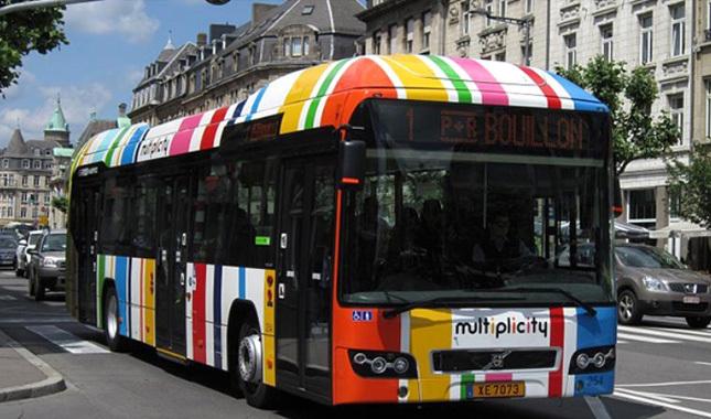 Lüksemburg'da toplu taşıma araçları ücretsiz oluyor